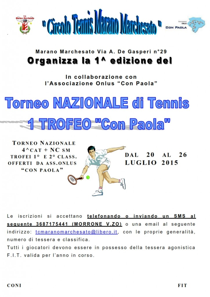 manifesto torneo_1 EDIZIONE Con Paola_luglio2015
