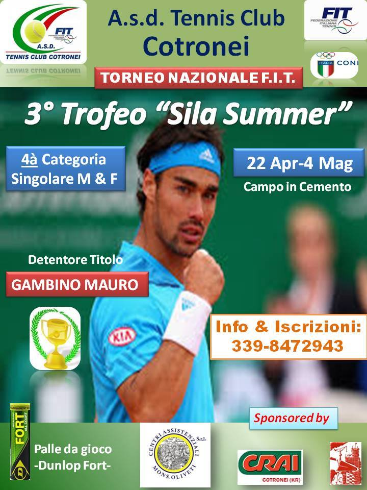 Tc Cotronei - 3* Trofeo Sila Summer