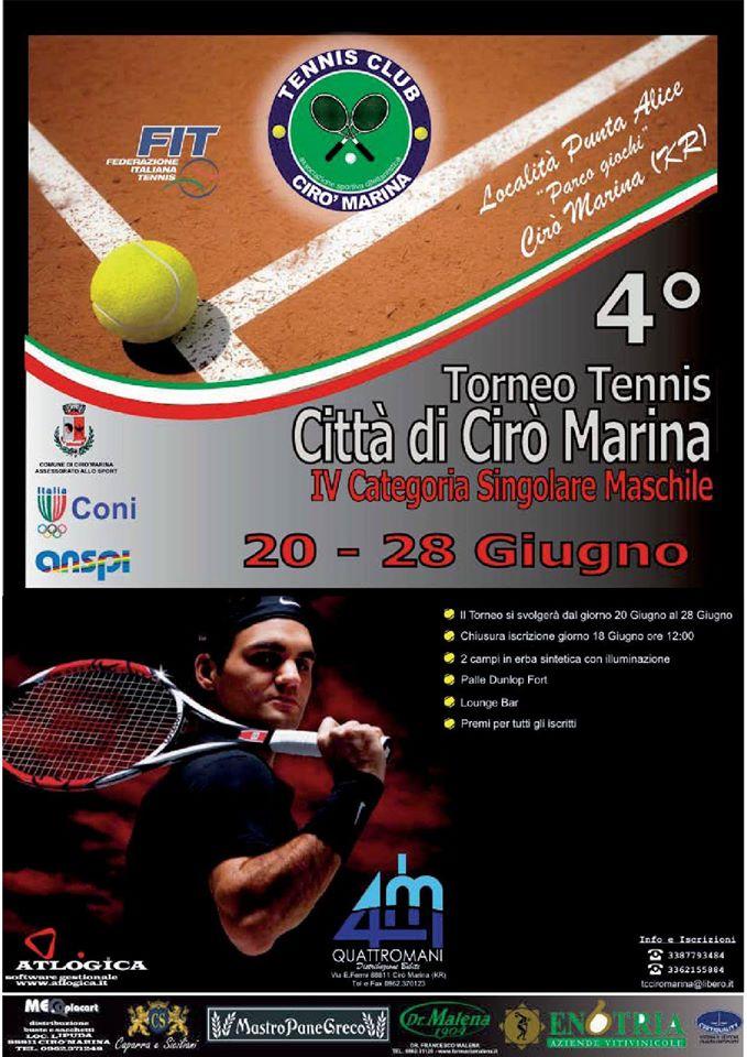 Loc IV Torneo di Tennis Città di Cirò Marina